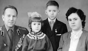 I as a Child with my family (l-r): Alexander, Natalya Alexandrovna, Victor Alexandrovich, and Tamara