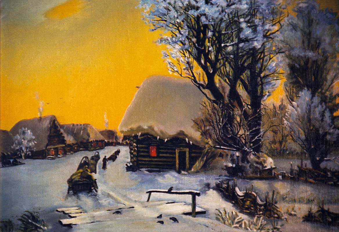 Russian Village (paining)